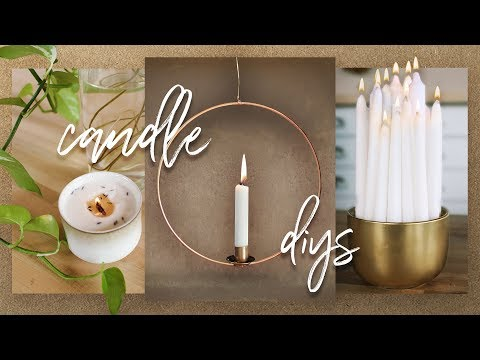 PINTEREST CANDLE DIYs + HACKS!