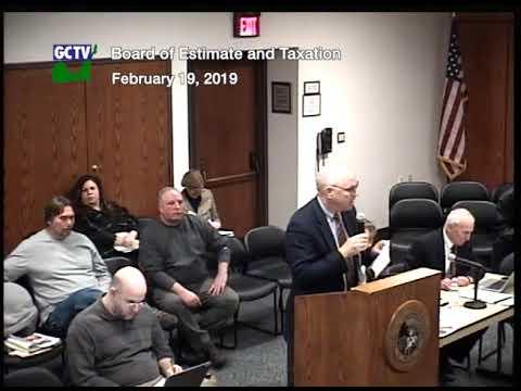 Board of Estimate &Taxation, Feb. 19, 2019