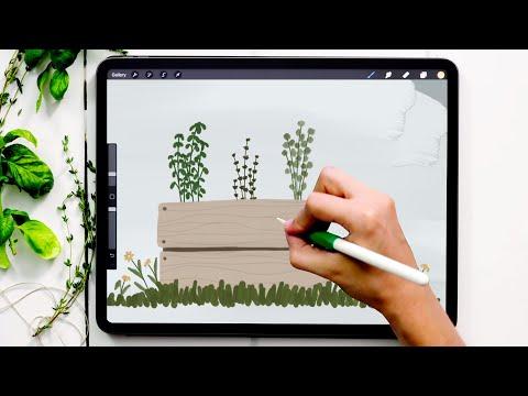 Paint a Gouache Herb Garden in Procreate