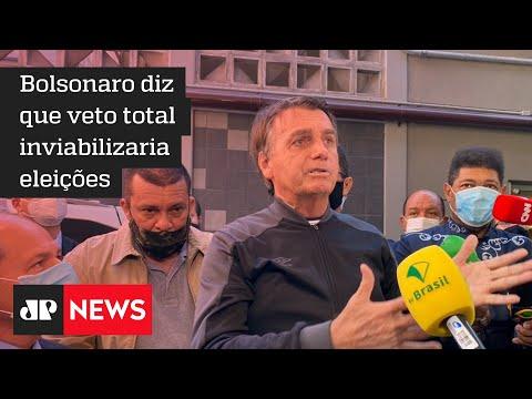 Bolsonaro justifica risco de crime de responsabilidade ao indicar veto de 'excesso' do 'fundão'