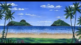 Cara Melukis Pantai Tropis Dan Pulau Pulau Menggunakan Akrilik Di