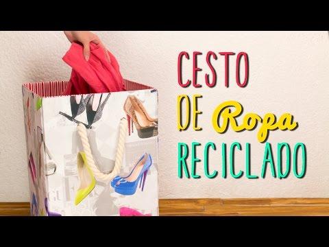 Cesto para Ropa Sucia Reciclado - De Caja de Cartón - Paso a Paso  ♥ - Catwalk - UCXEjweTqXu1IFj5ez1dLX7w