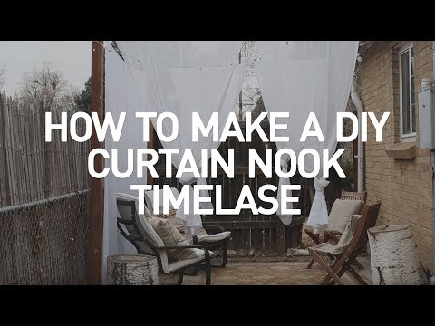 How to Make a DIY Curtain Nook - Time Lapse