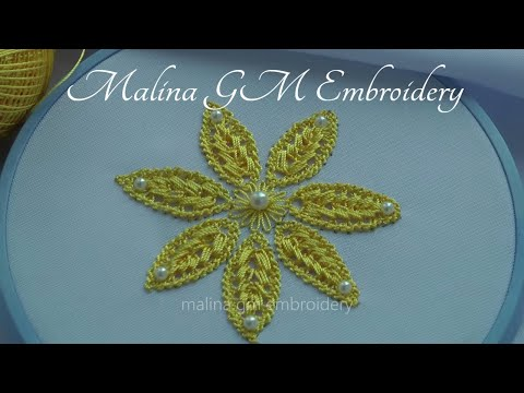 Hand Embroidery | Fantasy Flower | filling lace stitch | Romanian lace