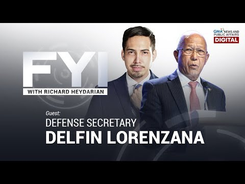 LIVESTREAM: FYI with Richard Heydarian: Exclusive interview with DND Sec. Delfin Lorenzana