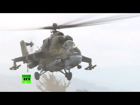 Russian combat helicopters in Syrian skies for anti-ISIS campaign