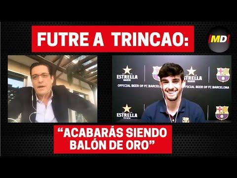 Entrevista a Futre y Trincao antes del Atlético-Barça