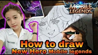 HOW TO DRAW NEW HERO DYRROTH MOBILE LEGENDS [ SPEED DRAWING ] MENGGAMBAR HERO DYRROTH