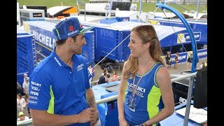 Suzuki e Carolina Kostner insieme al Mugello