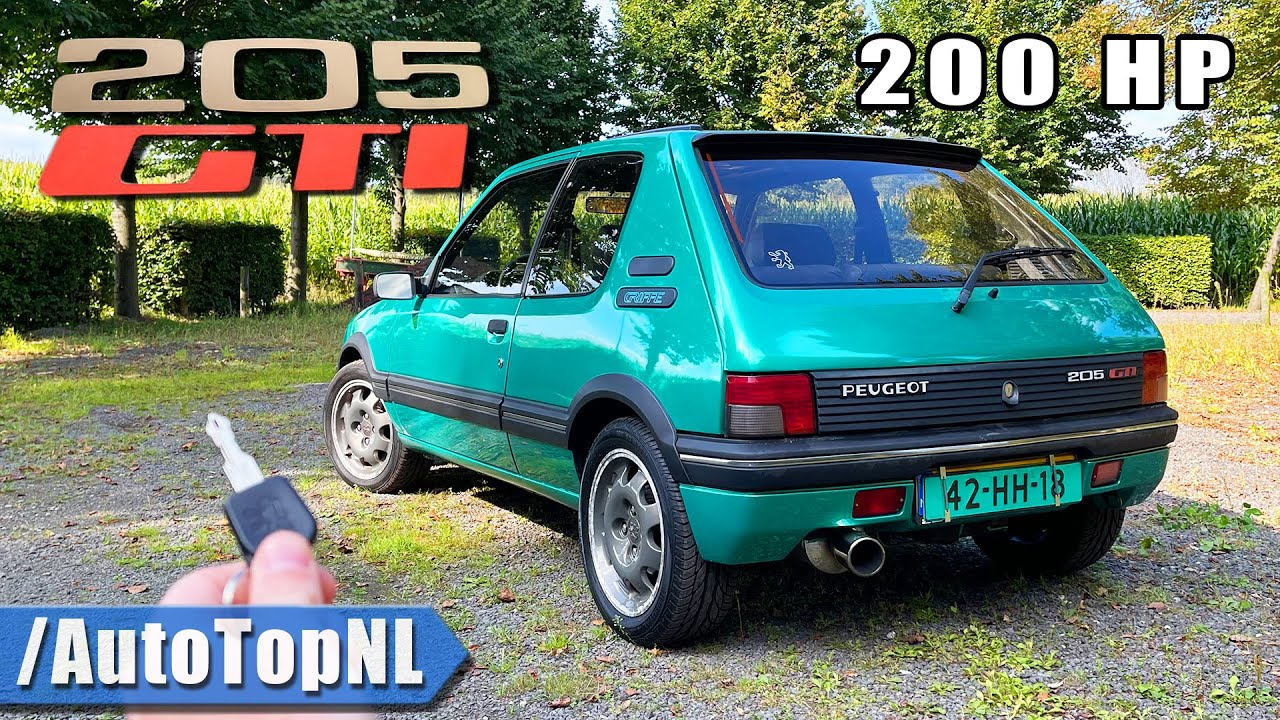Peugeot 205 GTi | 2.0 16v ENGINE SWAP 200HP | POV Review by AutoTopNL