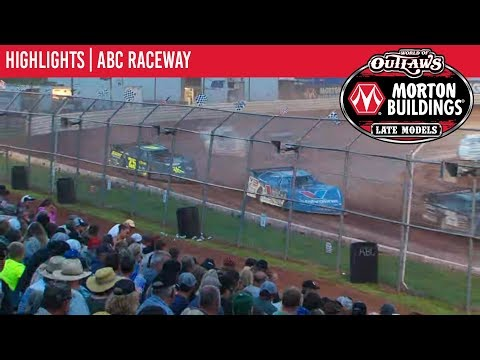 World of Outlaws Morton Buildings Late Model Series Feature Event Highlights from ABC Raceway in Ashland, Wisconsin on July 9, 2019. To view the full race, visit DIRTVision.com. - dirt track racing video image