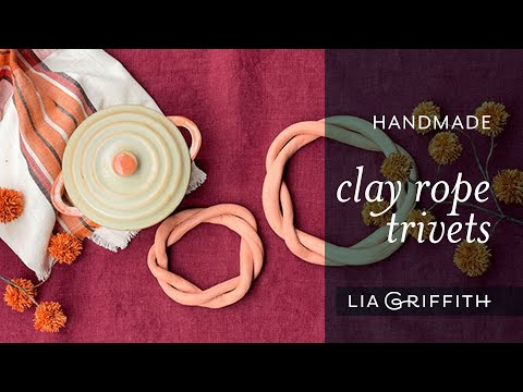 Handmade Clay Rope Trivet | October 2021 Collection
