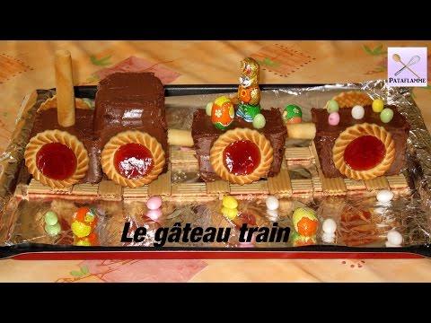Gâteau de fête : le train d'anniversaire ou de Pâques