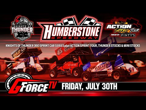 7/30/2021-Pinty's Knights of Thunder 360 Sprints at Humberstone Speedway - dirt track racing video image