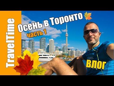 Осень в ТОРОНТО, часть 1 🍁 ВЛОГ 🇨🇦 тур по красивым местам, набережная и парки / VLOG Жизнь в Канаде