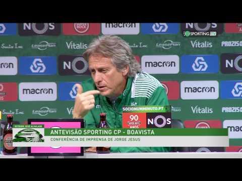 Conferência Jorge Jesus- Antevisão: Sporting x Boavista