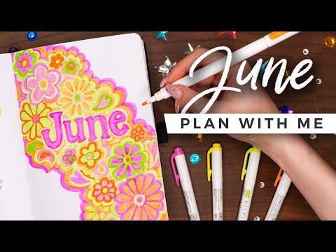 PLAN WITH ME | June 2021 Bullet Journal Setup
