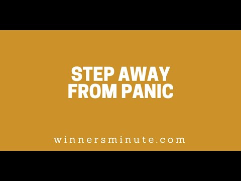 Step Away From Panic // The Winner's Minute With Mac Hammond