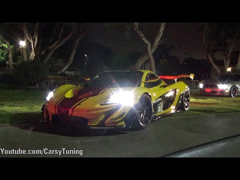 McLaren P1 GTR Street Legal in the road - Start Up and Accelerations