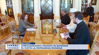 Ambasadoarea Frantei in Romania in vizita la Patriarhia Romana