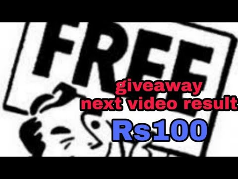 giveaway Rs100 next video result