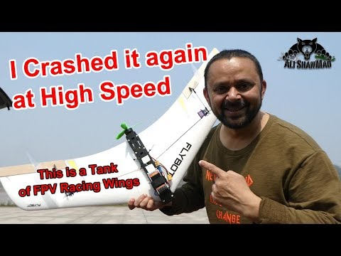 FlyBot Flux FPV Racing Wing Another High Speed Crash in Concrete - UCsFctXdFnbeoKpLefdEloEQ