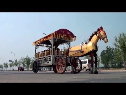 Железный друг: китайский фермер вручную собрал механическую лошадь