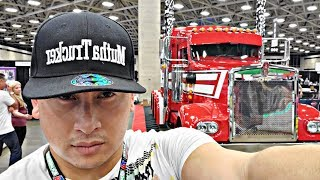 Giving Away 500 Trucker Hats @The Great American Trucking Show 2019
