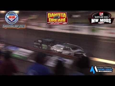 Sheyenne Speedway WISSOTA Midwest Modified A-Main (2021 Dakota Dream) (9/6/21) - dirt track racing video image