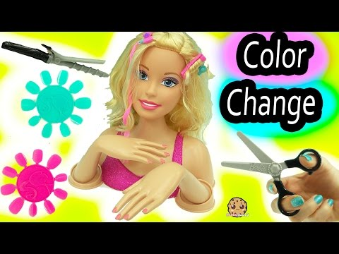 Giant Barbie Color, Cut & Curl Style Doll Head Make Over with Color Change Makeup + Nails - UCelMeixAOTs2OQAAi9wU8-g