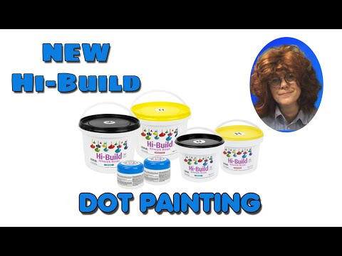 ( 1010 )  Resin dot pour with Hi – Build resin