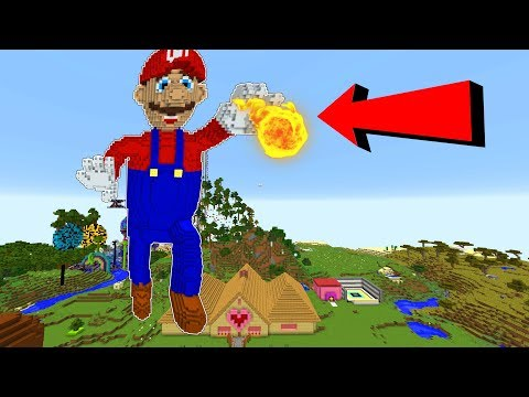 MEGA MARIO TAKES OVER MINECRAFT!!!