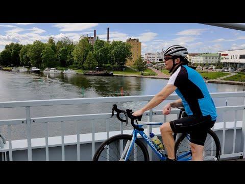 Velogi-videobloggarin pyöräilyvideo Valkeakosken keskustan Riippusiltojen lenkiltä - lyhyt versio