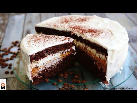 Торт «КАПУЧИНО» со вкусом шоколада |  Cappuccino cake recipe