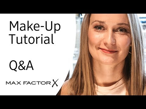 Make-Up Tutorial und Q&A mit Max Factor