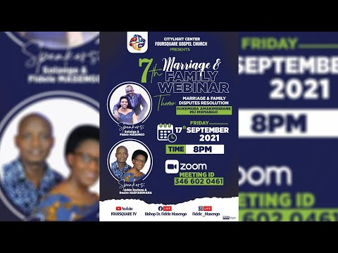 7th Marriage and Couple Webinar  Marriage and Family Disputes Resolution - 17.09.2021
