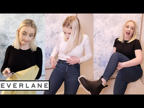 SUSTAINABLE CLOTHING TRY ON HAUL: Everlane