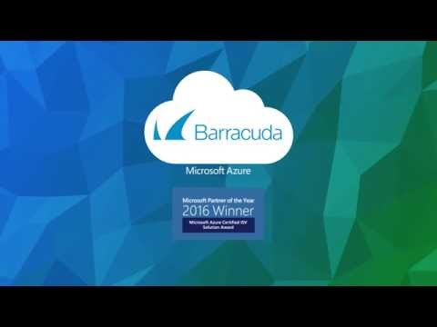 Barracuda Security Solutions for Microsoft Azure