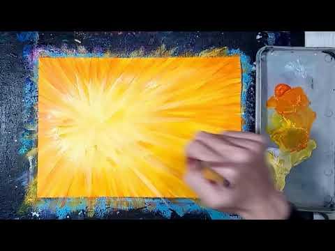 Sunburst Angel Acrylic Painting Surreal Fantasy Painting Demonstration