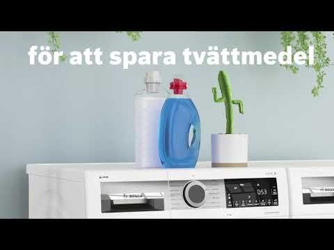 Bosch tvättmaskiner med i-DOS:  automatisk dosering av tvättmedel.