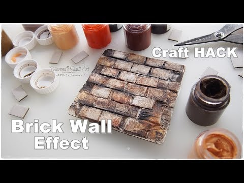 DIY Brick Wall Effect ♡ Craft Hack ♡ Maremi's Small Art ♡