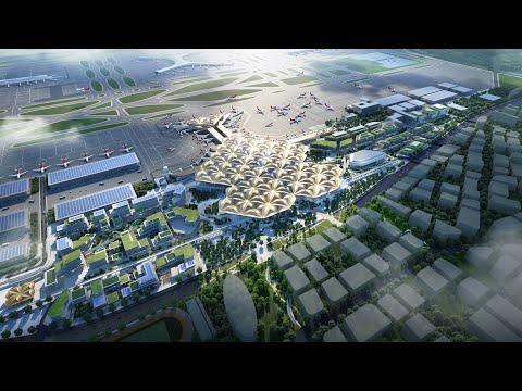 Grimshaw models Shenzhen airport transport hub on mangrove trees