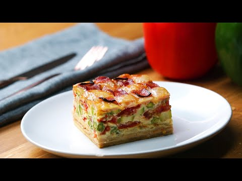 Ham And Cheese Lattice Quiche ? Tasty Recipes
