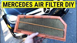 Cambio filtro aria motore Classe C-Mercedes W204