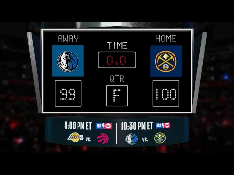 Mavericks @ Nuggets LIVE Scoreboard - Join the conversation & catch all the action on #NBAonTNT!