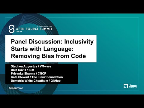 Panel Discussion: Inclusivity Starts with Language: Removing Bias from Code