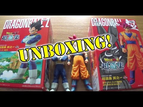 Dragon Ball Z Super - Figuras Oficiales Japonesas de Goku God y Vegeta de Banpresto Craneking