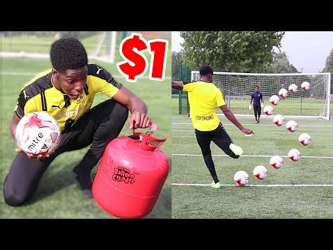 BLOWING A $1 FOOTBALL with HELIUM - was it really worth it??
