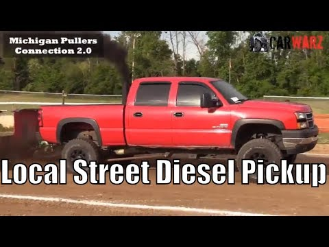 Local Street Diesel Pickup Class At TTPA In Carsonville MI - Day 01 2018