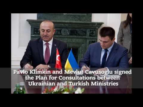 Візит Міністра закордонних справ Туреччини Мевлюта Чавушоглу в Україну